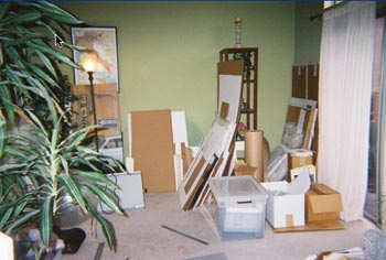 framing studio - before